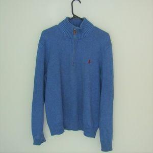 POLO Ralph Lauren • Blue 1/4 Neck Sweater